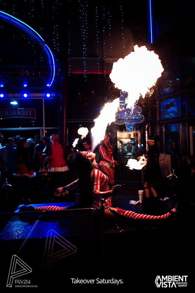 Fire Breathing at Silent Noize Events